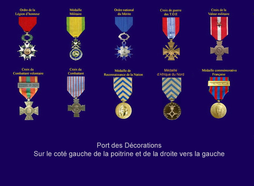 Port des d corations for Decoration officielle francaise
